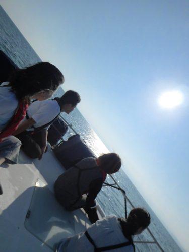 最高の青空での相模湾、平塚沖海洋散骨でした。